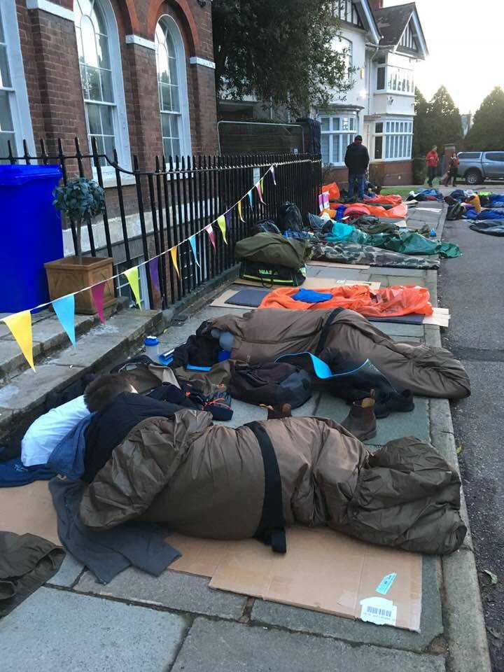 More people sleeping out on the street
