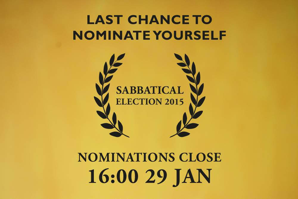 Last Chance to Nominations  - Sabbatical Election 2015