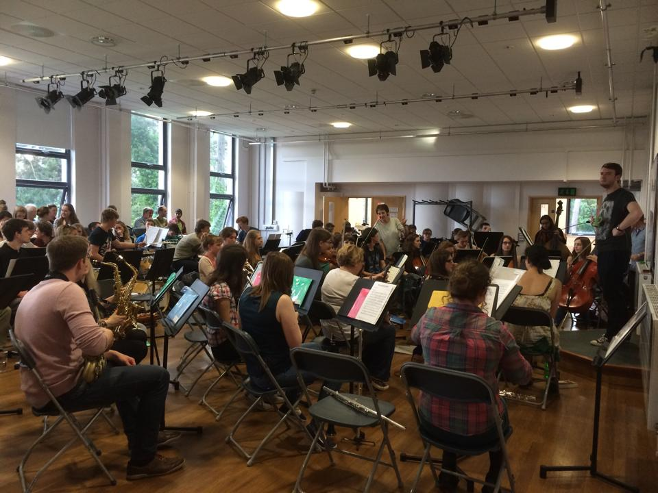 A well attended rehearsal of the Symphony Orchestra