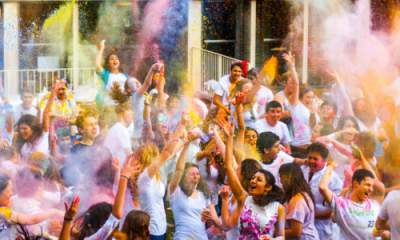 Picture of the holi celebration
