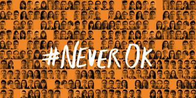 #NeverOK A picture of many faces