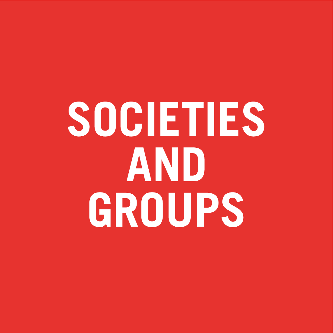 Societies and Groups