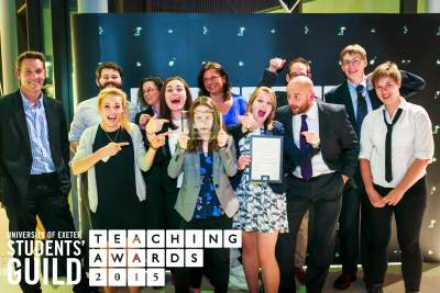 People at the teaching awards.
